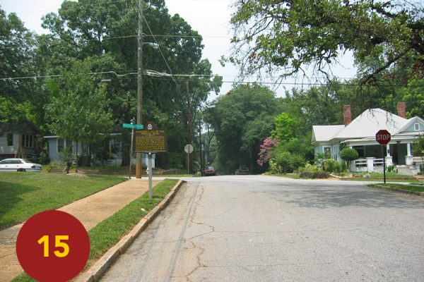 """STOP 15: """"Cleburne's Division in the Gap (north East Atlanta)"""" [2004]"""