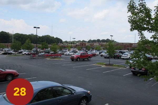 """STOP 28: """"Harrow's Division Fall-Back Line (south-end of Edgewood Retail District)"""" [2012]"""