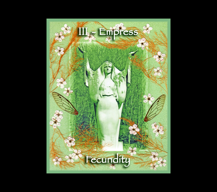 Major Arcana: Empress / Pressed with Pear, Asparagus, & Cicada Wings (Witch Hazel Press ©)