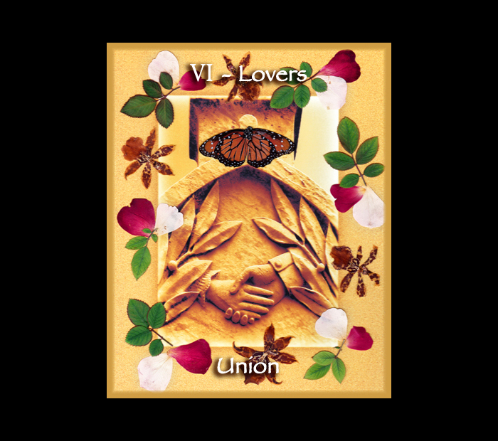 Major Arcana: Lovers / Pressed with Rose, Orchid, & Butterfly Wings (Witch Hazel Press ©)