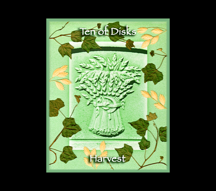 Minor Arcana: Disks 10 / Pressed with Ivy & Oat (Witch Hazel Press ©)