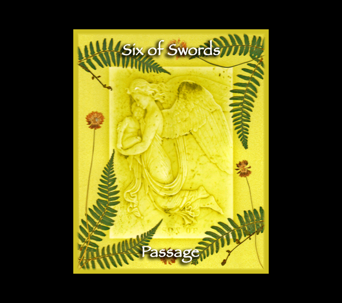 Minor Arcana: Swords 06 / Pressed with Fern & Clover (Witch Hazel Press ©)
