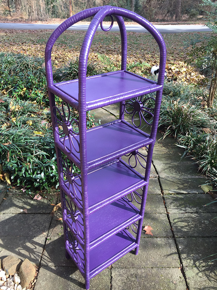 """Rescued Wares » """"Natasha"""" was a neighborhood walk find. As I carried her home I thought about new color schemes and decided to play against her cheery nature by painting her a dark purple. Striking!"""