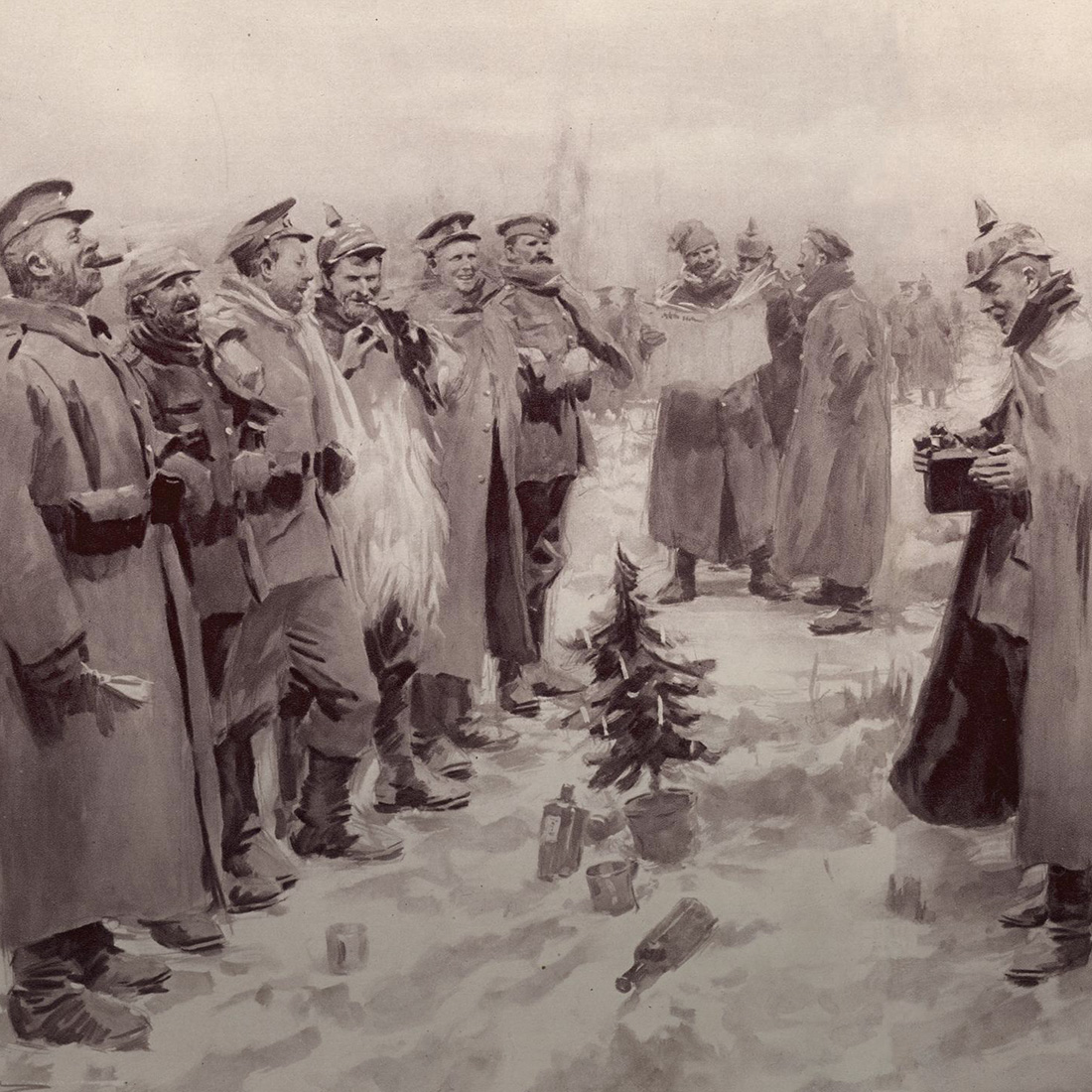 fraternizing with the enemy on christmas of 1914 British memorial commemorating the 1914 christmas truce  bubbled up from  the men in the foxholes deciding to fraternize with the enemy.