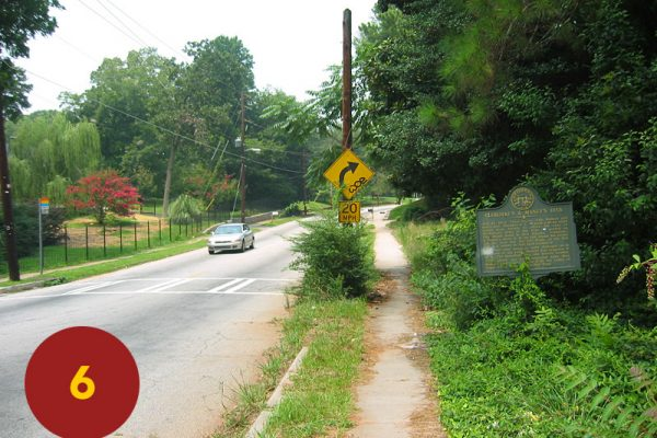 """STOP 6: """"Assembly Point for Cleburne's / Maney's Divisions (Flat Shoals Avenue, south East Atlanta)"""" [2004]"""