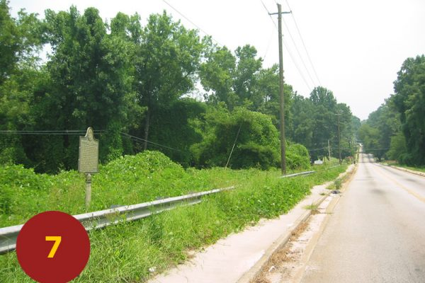 """STOP 7: """"Assembly Point for Bate's / Walker's Divisions (north Fayetteville Road)"""" [2004]"""