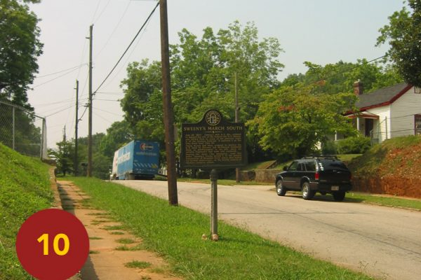 """STOP 10: """"Sweeny's Division Approaches Position (Clay Street off Hosea Williams)"""" [2004]"""