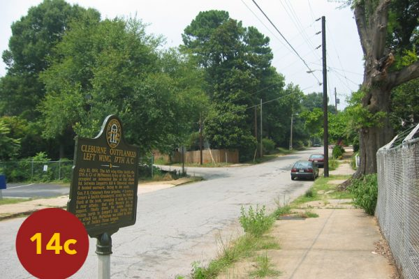 """STOP 14c: """"Cleburne's Division beyond Smith's Flank (Haas Avenue, off Glenwood)"""" [2004]"""