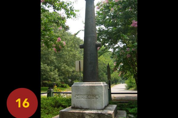 """STOP 16: """"The Death of McPherson (Monument / McPherson Avenues)"""" [2004]"""
