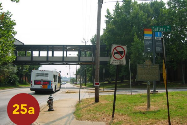 """STOP 25a: """"Site of Widow Pope House (Inman Park / Reynoldstown MARTA Station)"""" [2004]"""