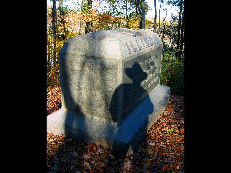Battles for Chattanooga: [2005] Illinois marker further down Tunnel Hill, marking end-of-fighting positions