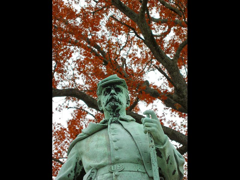 Battles for Chattanooga: [2007] A tarnished close-up, red autumn oak in background