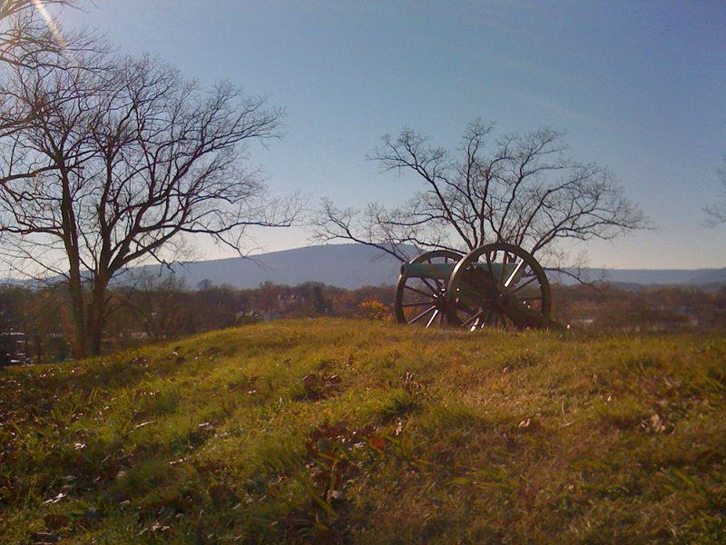 Battles for Chattanooga: [2009] A commanding view of Lookout Mountain from atop Orchard Knob (looking southeast)