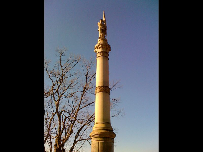 Battles for Chattanooga: [2009] New Jersey monument atop Orchard Knob
