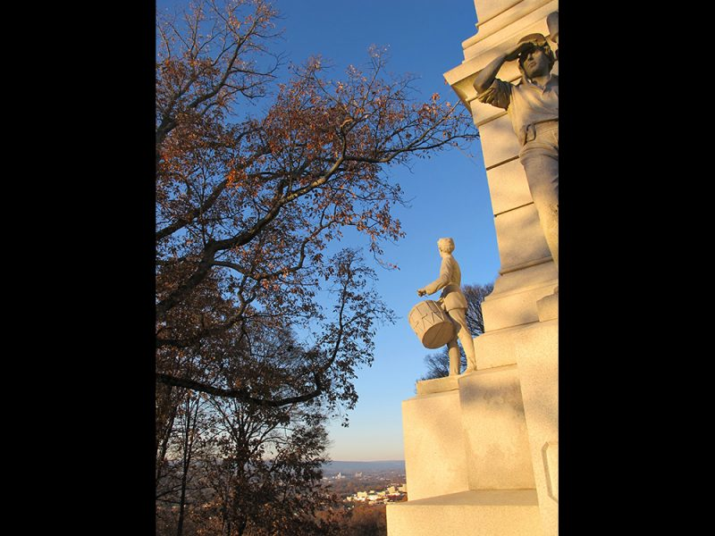 Battles for Chattanooga: [2014] A view of the city looking west beyond the Ohio Monument
