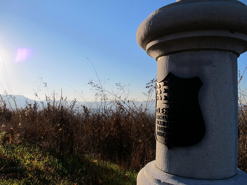 Battles for Chattanooga: [2014] Close-up of the Phelps Monument along Crest Road