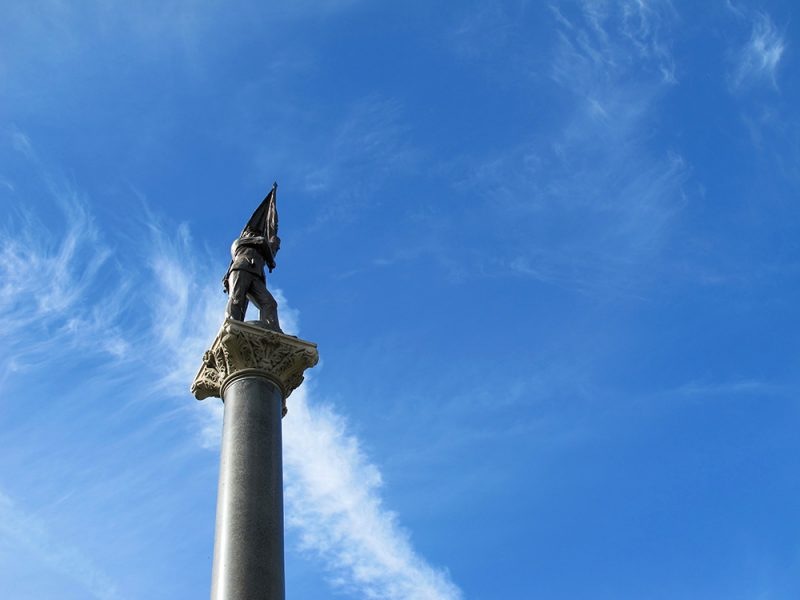 Battles for Chattanooga: [2015] Soldier atop the restored Illinois Monument