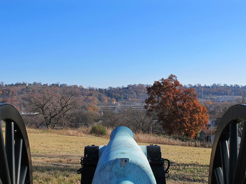Battles for Chattanooga: [2014] Center of the Missionary Ridge line from Orchard Knob, assaulted by Wood's Division