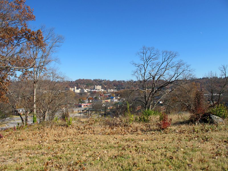 Battles for Chattanooga: [2014] Left-center of the Missionary Ridge line from Orchard Knob, assaulted by Baird's Division