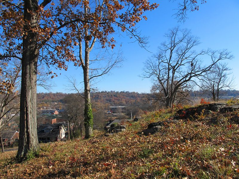 Battles for Chattanooga: [2014] Left of the Missionary Ridge line from Orchard Knob, assaulted by Baird's Division