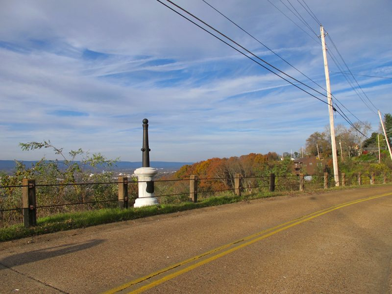 Battles for Chattanooga: [2015] Monument to Colonel Edward Phelps, killed at this spot leading his men as they emerged atop the ridge—some of the very first units to do so