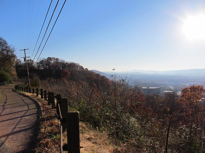 Battles for Chattanooga: [2014] A great example of the sheer drop off from the ridge crest into the valley below, terrain scaled by tens-of-thousands of Cumberland soldiers in making their improbable attack