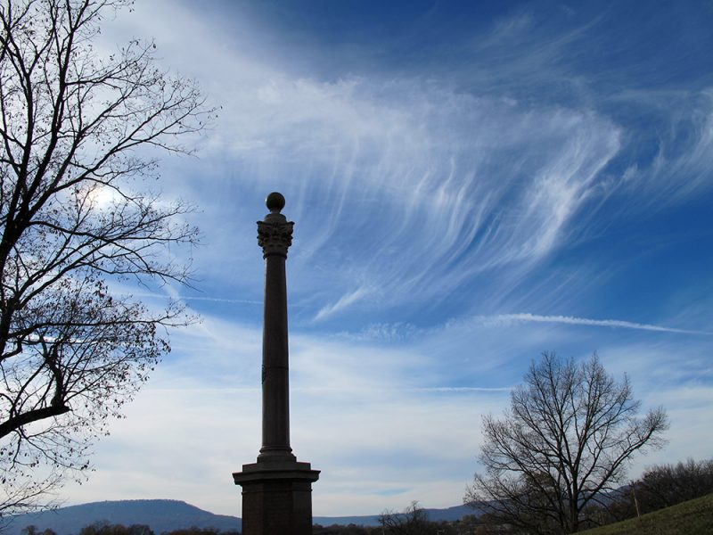 Battles for Chattanooga: [2015] The Wisconsin Monument with Lookout Mountain to lower-left