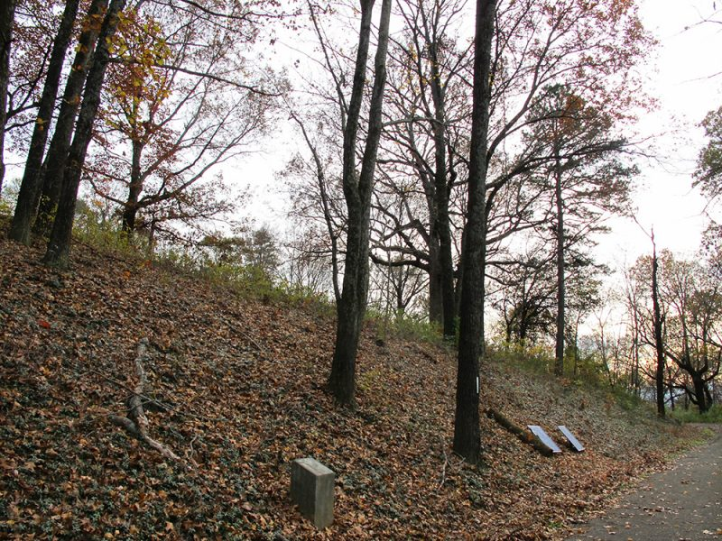 Battles for Chattanooga: [2015] The west-facing slope of Tunnel Hill, location of a Confederate counterattack that broke the Union assault attacking from the west