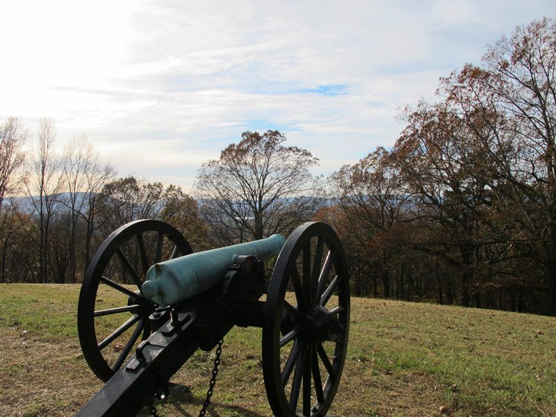 Battles for Chattanooga: [2015] Confederate positions atop Tunnel Hill, facing west