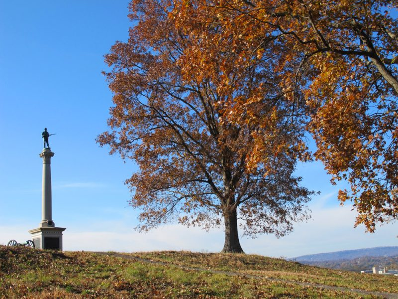 Battles for Chattanooga: [2017] Maryland monument atop Orchard Knob