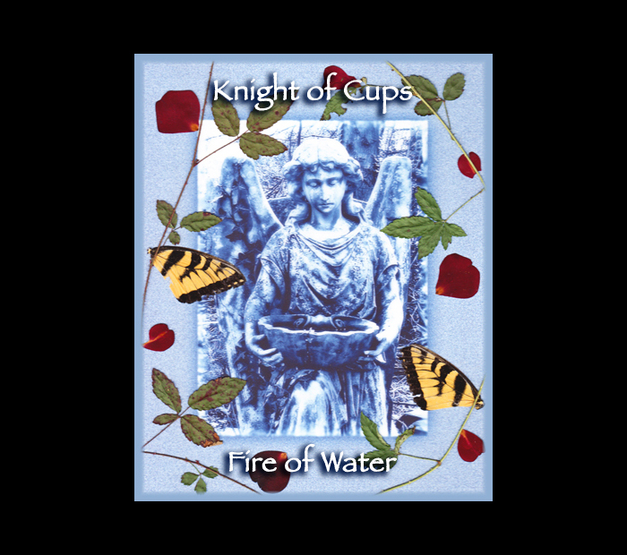 Cemetarot Court Card: Knight of Cups / Pressed with Briar, Rose, & Butterfly Wings (Witch Hazel Press ©)
