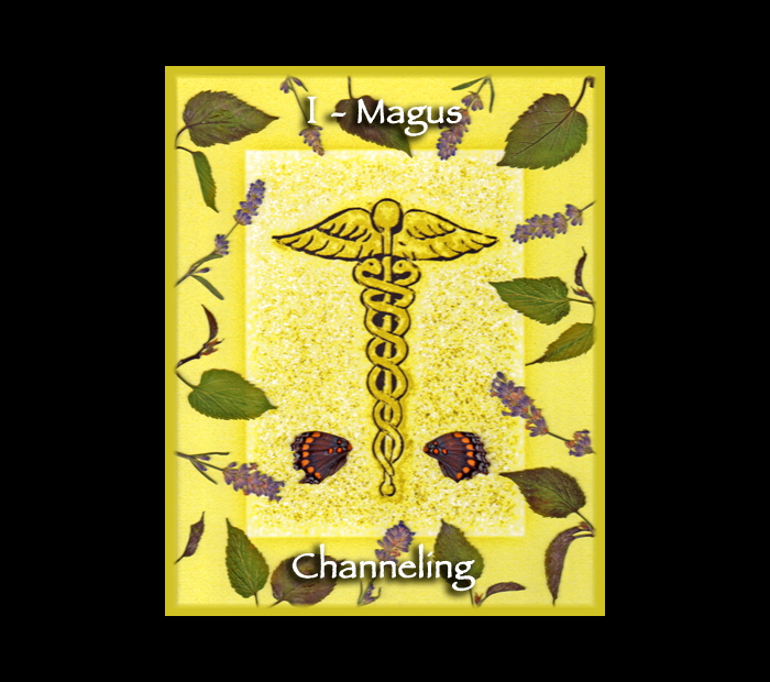 Major Arcana: Magus / Pressed with Mulberry Leaves, Lavender, & Butterfly Wings (Witch Hazel Press ©)