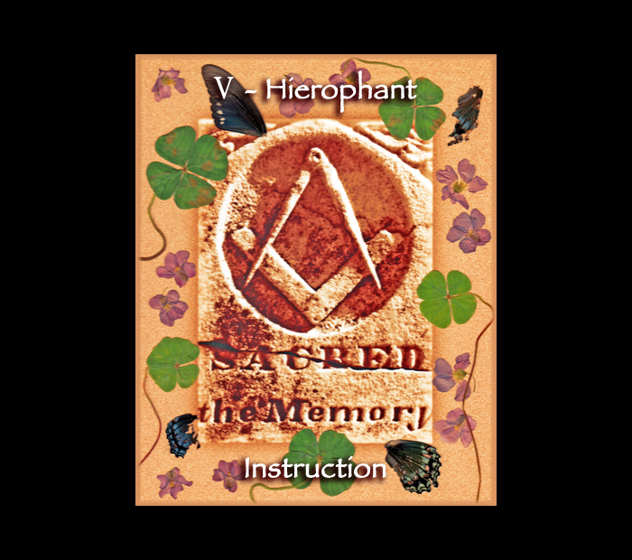 Major Arcana: Hierophant / Pressed with Wood Sorrel & Butterfly Wings (Witch Hazel Press ©)