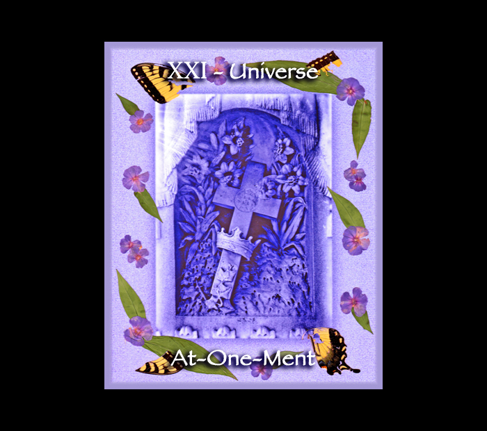 Major Arcana: Universe / Pressed with Phlox & Butterfly Wings (Witch Hazel Press ©)