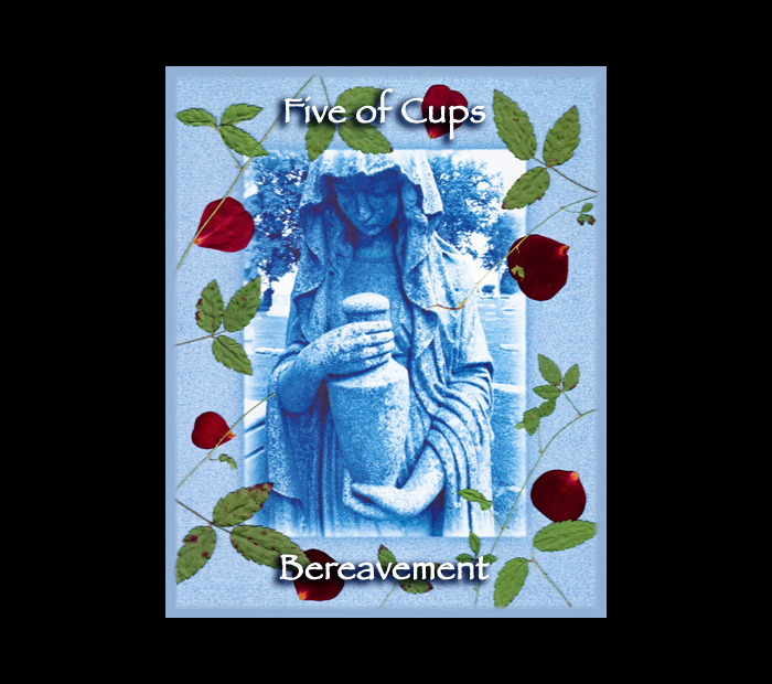 Minor Arcana: Cups 05 / Pressed with Briar & Rose (Witch Hazel Press ©)