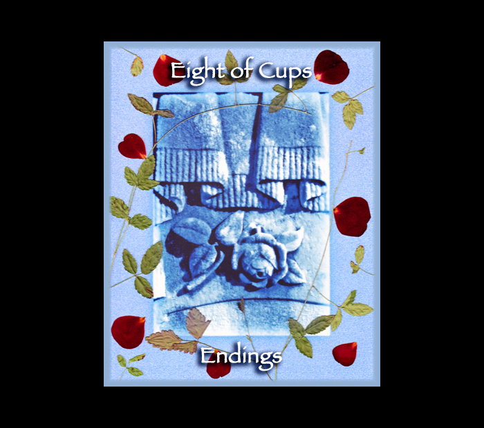Minor Arcana: Cups 08 / Pressed with Briar & Rose (Witch Hazel Press ©)