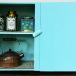 "Rescued Wares » ""Polly"" was a piece that was found on the roadside. Refurbished, she rocks it as a primitive tea cabinet!"