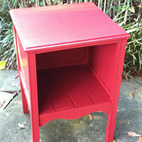 """Rescued Wares » A vintage filing cabinet salvaged from our own basement, """"Merlin"""" rocks it in red and a new open cubby look."""