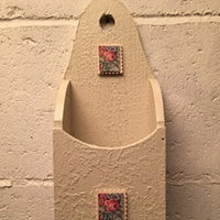 """Rescued Wares » One of my smaller offerings, """"Eudora"""" is a charming little letter holder named for Eudora Welty and her story """"Why I Live at the P.O."""" :)"""