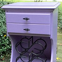"""Rescued Wares » """"Lavender,"""" a piece bought from friends who were winnowing their possessions, is sporting a fresh new color and pulls."""