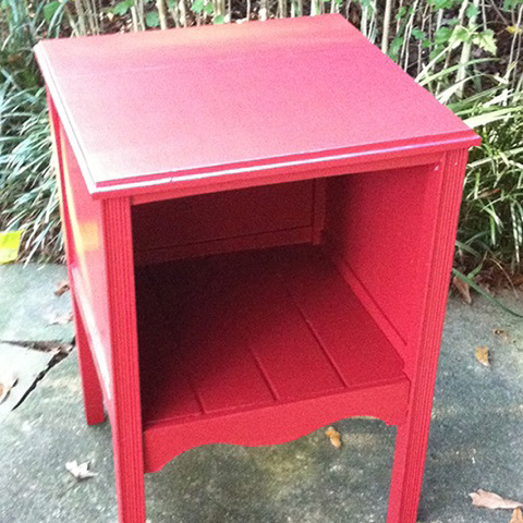 "Rescued Wares » A vintage filing cabinet salvaged from our own basement, ""Merlin"" rocks it in red and a new open cubby look."