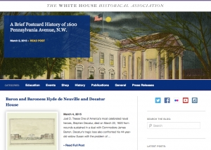 InHeritage Works: White House Historical Association Blog